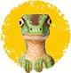 ミニ恐竜黄色80