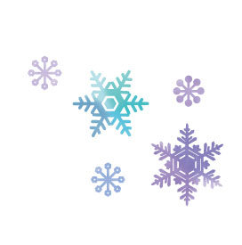 2DOI白いスペース雪の結晶02