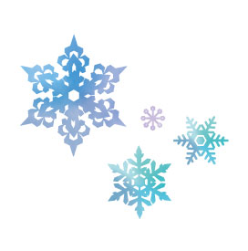 2DOI白いスペース雪の結晶01